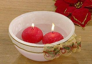 Manualidades con velas: hermoso cuenco con velas