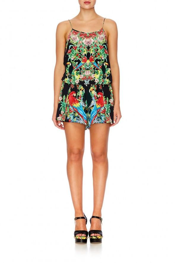 Camilla - Toucan Play Shoestring Strap Playsuit