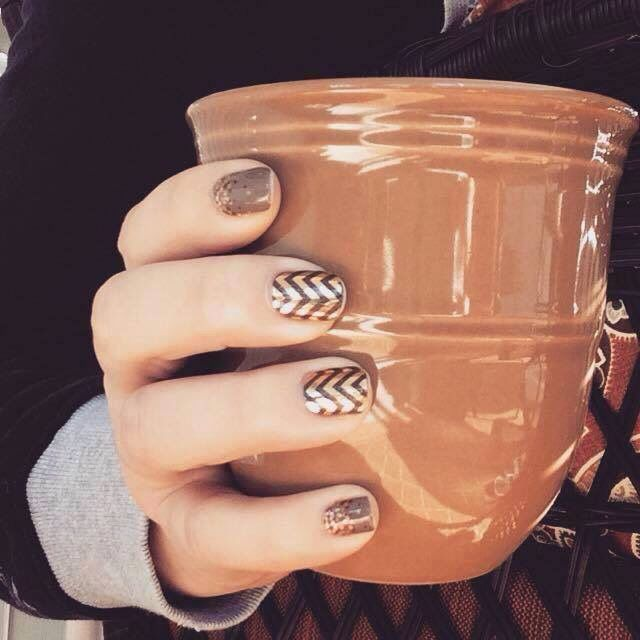 Apple Cider with Rose Gold and Black Chevron. www.crystalludwig.jamberry.com