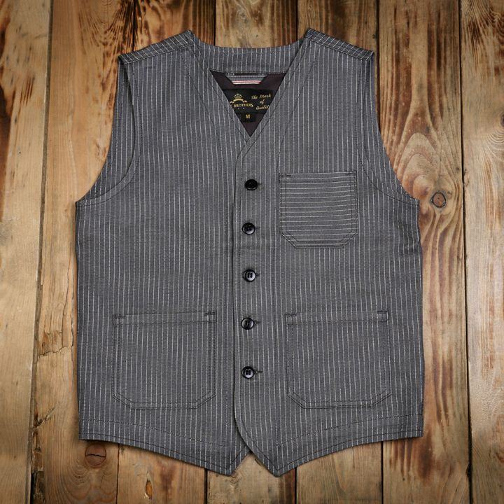 1937 Roamer Vest wabash grey