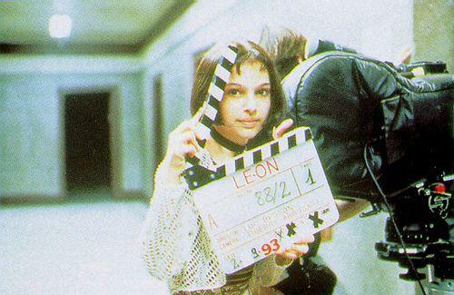 suicideblonde: Natalie Portman during the filming of Leon