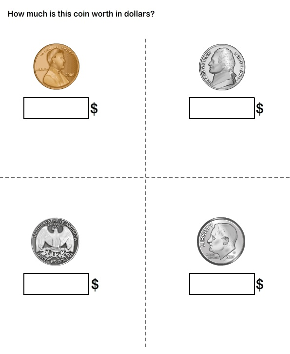 Free Worksheets coin recognition worksheets : Coin Identification Worksheets For Kindergarten - 1000 ...
