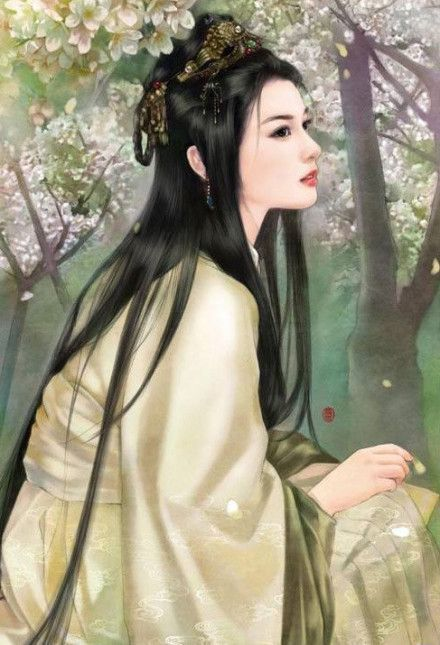 Kwan Yin, the Asian goddess of kindness and compassion. She was a princess who was killed by her father for not loving any man. But as she died, a spirit put a Peach Of Immortality in her mouth. Now Kwan Yin is a goddess, and will come when prayed to.