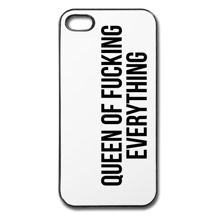 Etui na iPhone Queen of fucking everything Etui na telefony komórkowe i tablety - Etui na iPhone, od Profashionall. W różnych rozmiarach. Zamów teraz na stronie Spreadshirt!