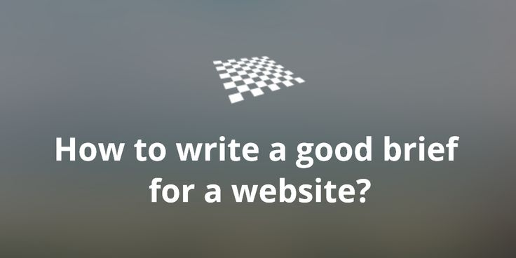 How to write a good brief for a website?  http://divendor.com/blog/how-to-write-a-good-brief-for-a-website/