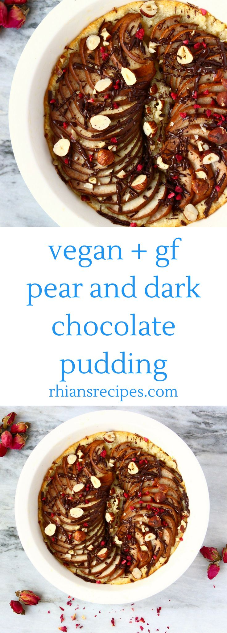 Pear Dark Chocolate Pudding: one bowl, easy to make, vegan and gluten-free