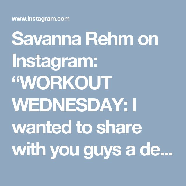 """Savanna Rehm on Instagram: """"WORKOUT WEDNESDAY: I wanted to share with you guys a deadlift variation I've been doing a lot recently. Deadlifts are one of the very best…"""" • Instagram"""