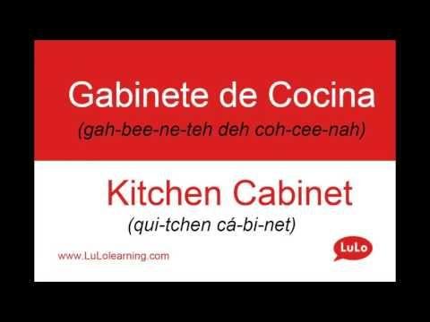 Cómo se dice Gabinete de Cocina en Inglés = How to say Kitchen Cabinet in Spanish