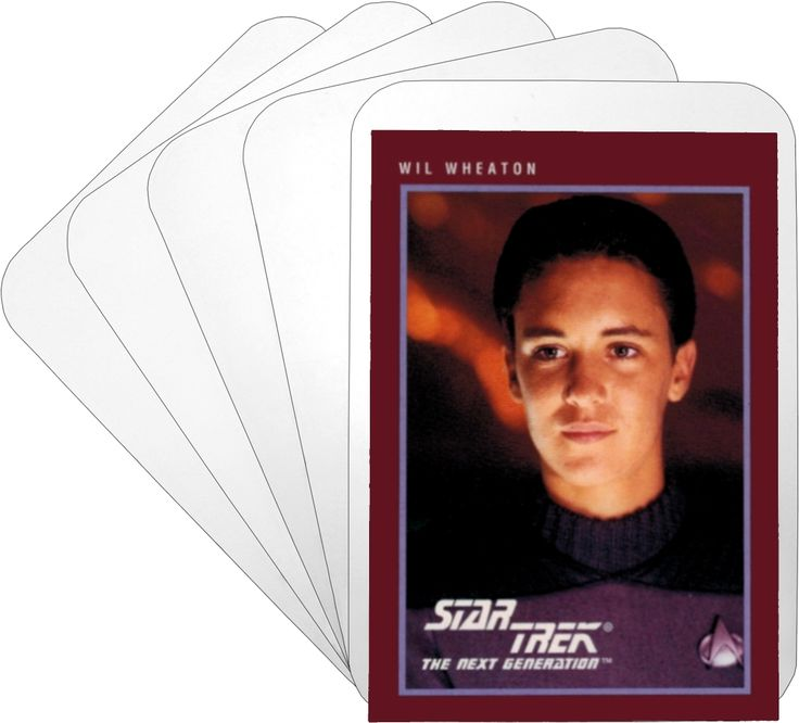 Divider cards section separators trading card white