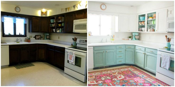 This Bright and Cheery Kitchen Renovation Cost Just $250 - CountryLiving.com