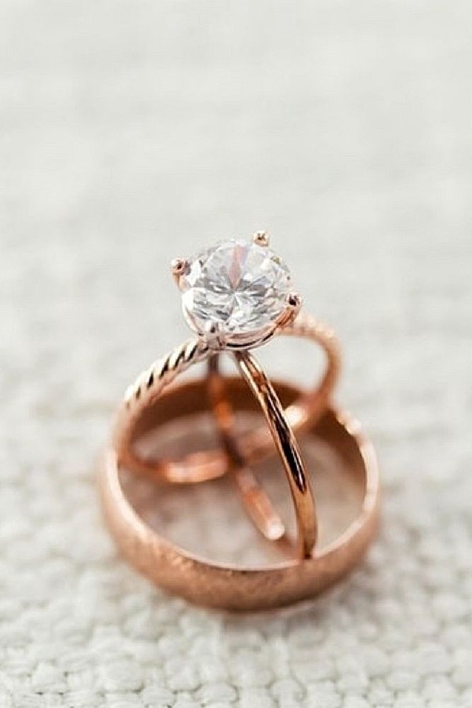 Engagement Ring That Was Created For A Special Bride ❤️ engagement ring set rose gold round diamond solitaire ❤️ See more: http://www.weddingforward.com/engagement-ring/ #wedding #bride #engagementring