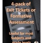 #sharethewealth #aneducatorslife This is a set of four exit tickets, available for free.  These are four of my favorites from this larger pack  Pack of 50 Exit Tickets  Often a lesson can really be solidified in students' heads by using some types of exit ticket.  These are also great as formative assessment, to show you and the students what they really understand!