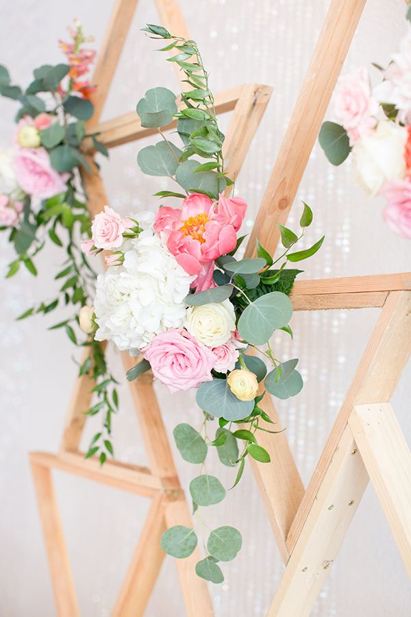 pink and white wedding flowers - photo by Amy & Jordan Photography…