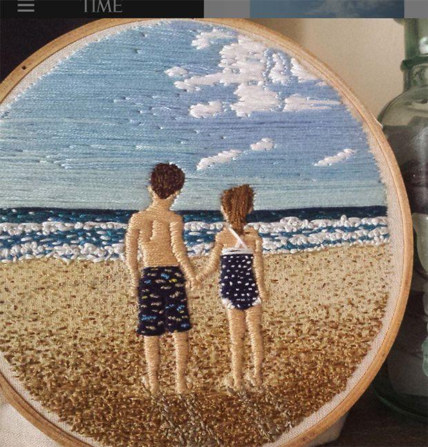 bordados LadyJane Longstitches praia