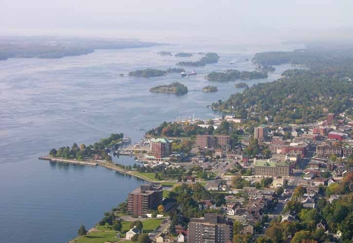 This is an overview of my home town of Brockville ON on the St. Lawrence River ... the gateway to the 1,000 Islands. Credit Ian Coristine.