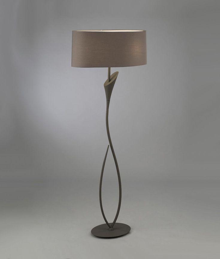 Lámpara de pie gris ceniza LUA - La Casa de la Lámpara