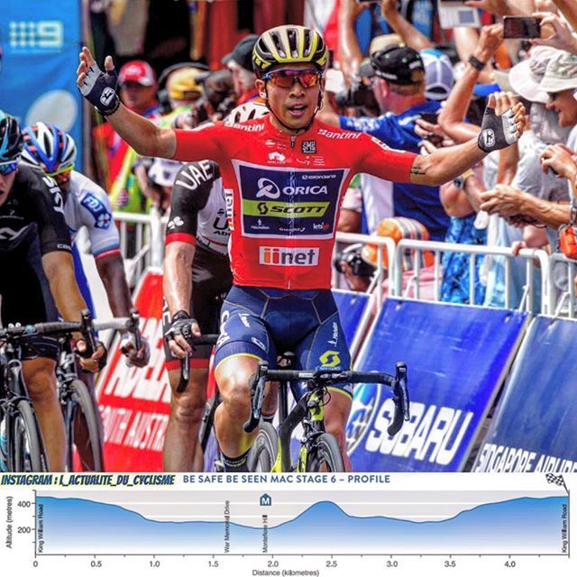 📷 : @gettyimages Caleb Ewan (Orica) wins the 6th and last stage of the Santos Tour Down Under (World Tour) just before Peter Sagan (Bora) and Marko Kump (UAE Abu Dhabi). Richie Porte (BMC) is the final winner. _ Caleb Ewan (Orica) remporte la 6ème et dernière étape du Santos Tour Down Under (World Tour). Définitivement invincible au sprint sur la course Australienne, celui qui signe là son quatrième succès de la semaine a été le plus rapide du peloton au sprint, devançant une nouvelle fois…