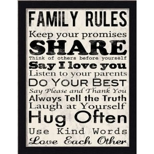 Family Rules Wall Art/ This is in my house!