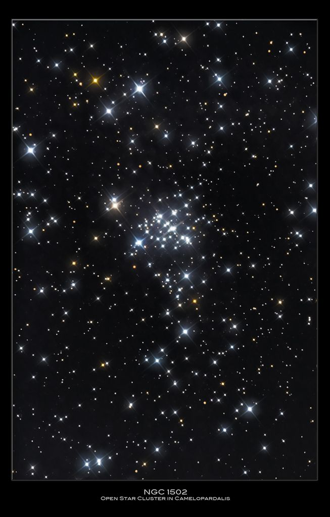 NGC-1502 Open star cluster in Camelopardalis, William Maxwell