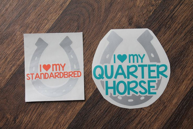 I Love My Horse Custom Decal   Personalized Horse Decal   Horseshoe Decal   Horse Decal   Custom Horse Decal by HPDesignsShop on Etsy https://www.etsy.com/listing/470302979/i-love-my-horse-custom-decal