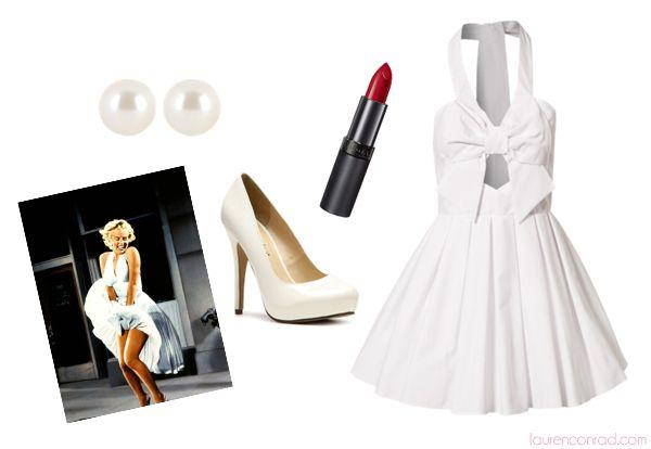 Hocus Pocus: 5 Last Minute Halloween Costumes {Marilyn Monroe}