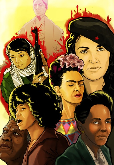 Beautiful art, strong women: Sojourner Truth, Tania Bunke, Frida Kahlo, Ella Baker, Angela Davis, Octavia Butler, Leila Khalid #feminism #inspiration