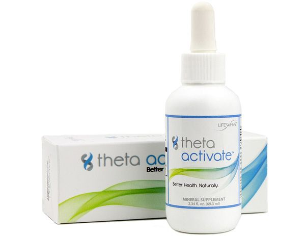 Theta Activate 2.34 fl oz (70 ml)   Speeds up the cell's metabolism Speeds up the body's absorption of nutrients Silica is considered by many physicians as an essential mineral Silica is a naturally occurring material in our body and needed for the health of our connective tissue, hair, nails and skin www.americanhealthmart.com