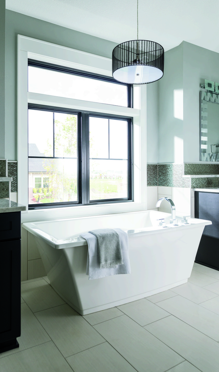 28 best Bath inspiration images on Pinterest | Pella windows ... Half Bathroom Designs With Win E A on