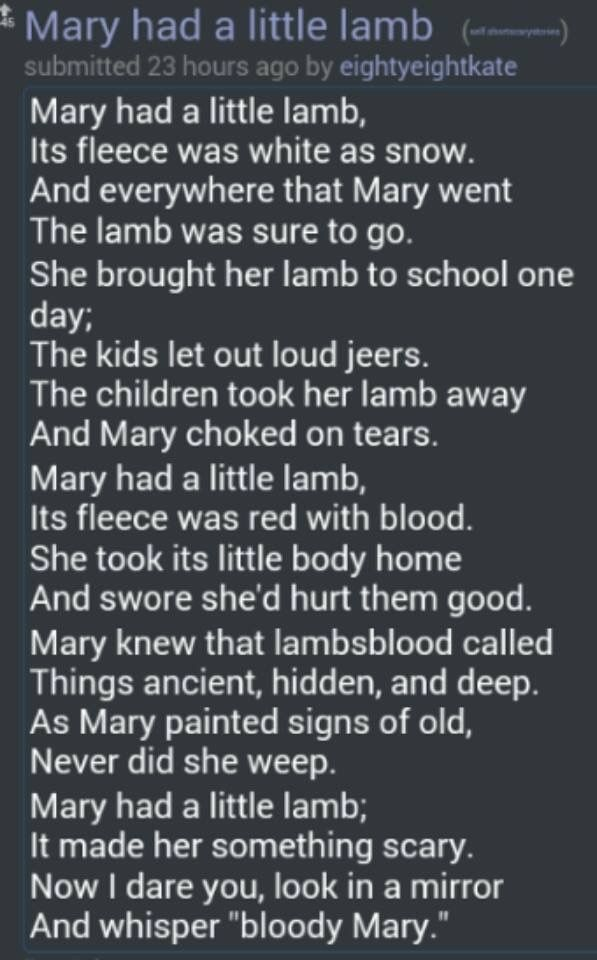 Sing the song with it creepy! Learn the scary Mary story too!!!