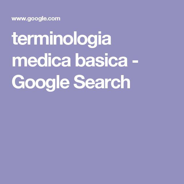 terminologia medica basica - Google Search