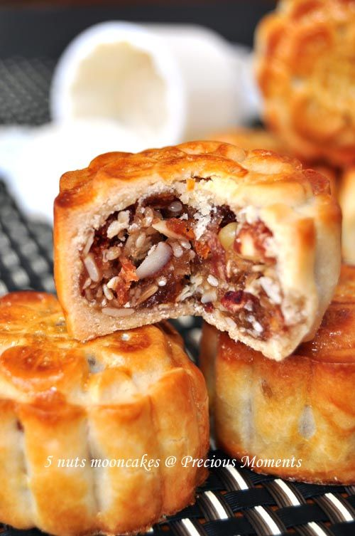 5 nuts mooncakes 五仁月饼 with steps and recipe