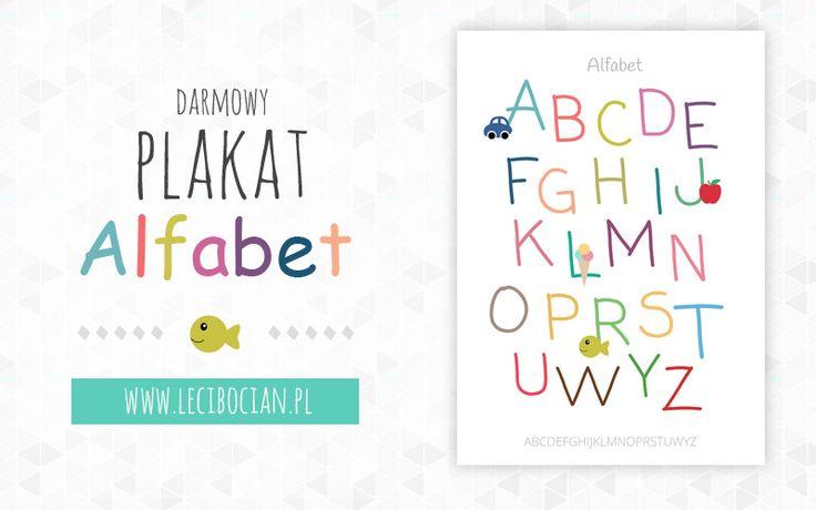Darmowy plakat z alfabetem
