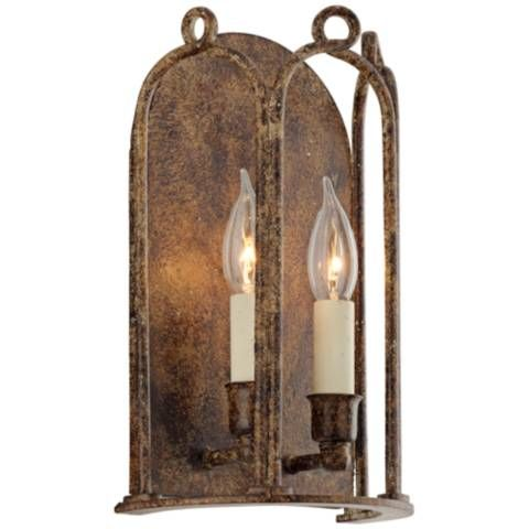 """Carousel 12 1/4"""" High Provence Bronze Wall Sconce - #9N109 