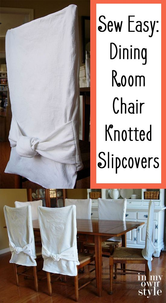 Embellish a Little: Make these Slipcovers for Dining Room Chairs to instantly add flair to the room.