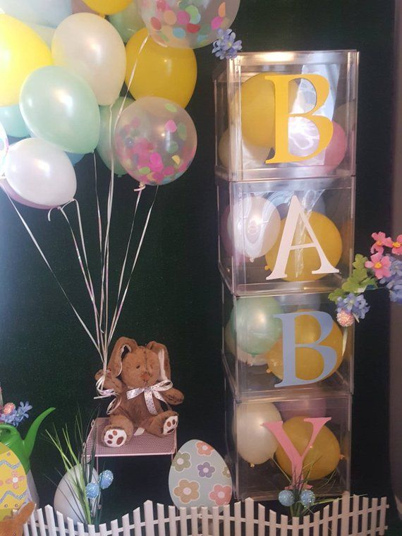 4 Large Clear Baby Blocks Decoration Custom Letter Boxes For