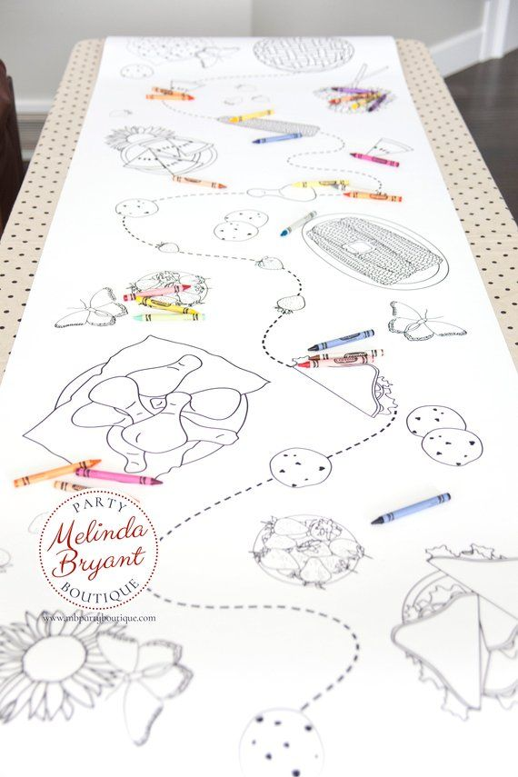 Picnic Theme Birthday Coloring Tablecloth First Birthday Party