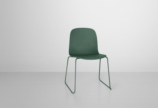 Visu Chair by Muuto in green - wooden base, wire frame. Availabe at Tempo Berlin http://www.tempoberlin.com