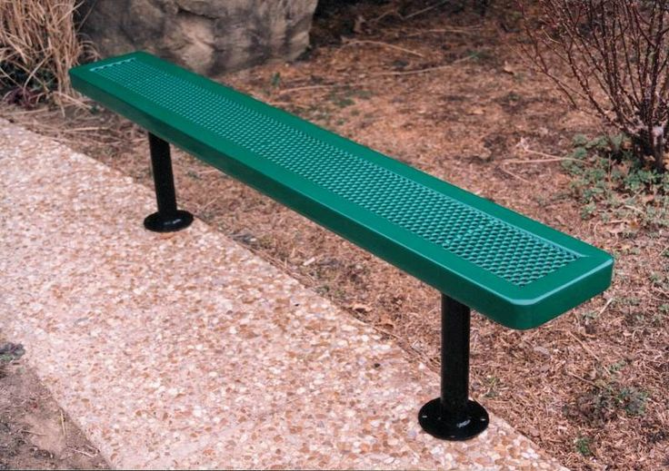 Commercial Iron & Metal Park Benches For Sale - - VMWCB15INNVSM: 15Ft. Industrial Grade Bench without Back, Surface Mt.