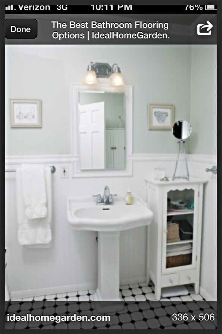 flooring ideas for small bathrooms%0A Pinned from Pin It for iPhone    Small Bathroom IdeasSmall
