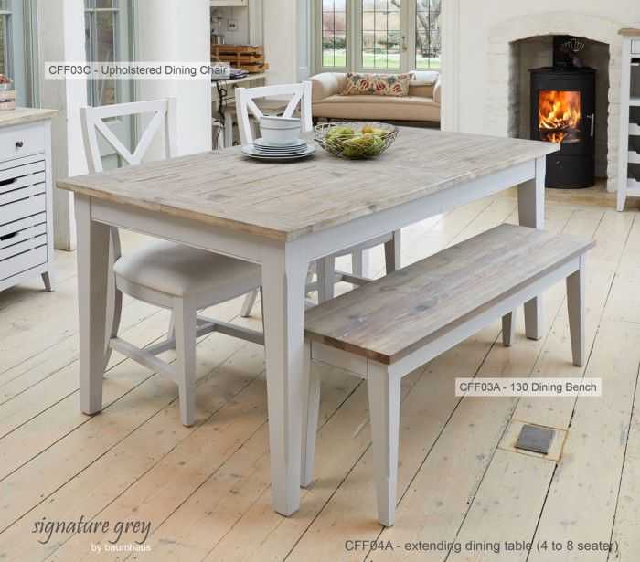 This superb  versatile large extending dining table seats up to 8 people The key feature this collection is the exquisite hand distressing on grey 140 best Dining Table and Chairs images Pinterest