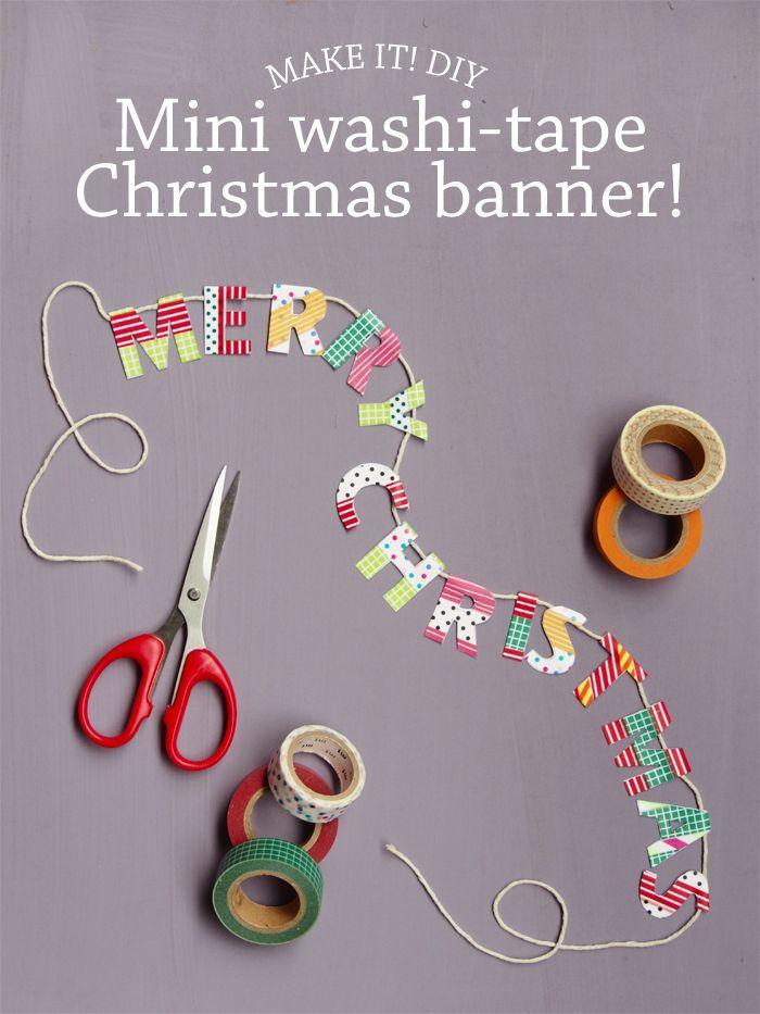 Washi Tape Christmas Banner