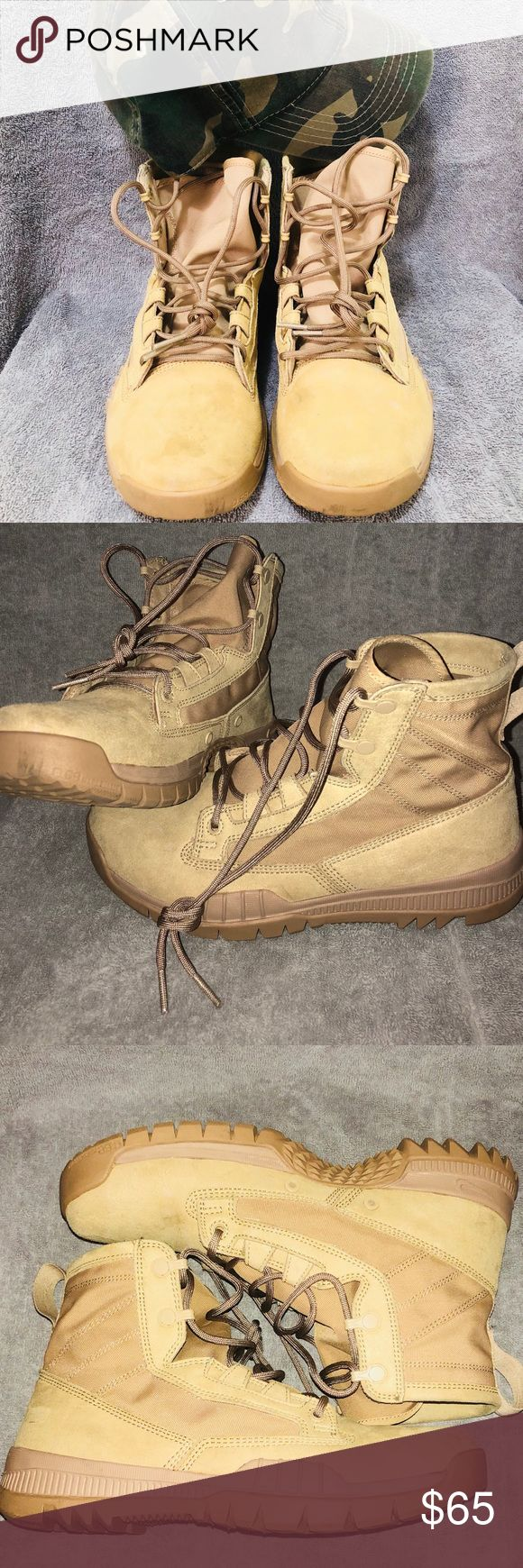 Nike SFB 6 inch Field Boots (Desert Tan) Used Nike Special Field Boots 6 inch Field Boots (Desert Tan) , signs of wear and tear , comfortable shoe, insole and traction of shoe are in good condition , proof and authenticity of shoe purchased at https://uspatriottactical.com/  Able to negotiate price , best offer gets it Will not take returns or trades Nike Shoes Boots
