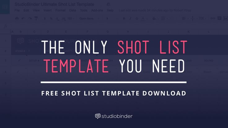 Download A Shot List Template Made For Industry Pros Featuring An
