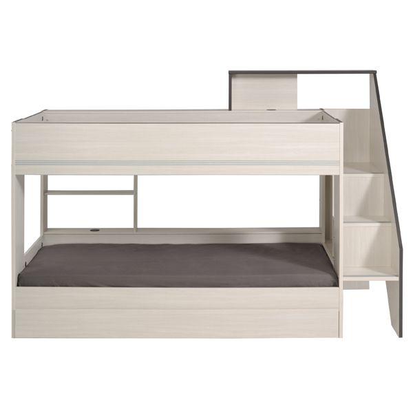 En sjelden modell køyeseng med plass til 3. Ypperlig med uttrekk for å utnytte plassen 100%. Kjøp trygt med Klarna i dag. Sjekk vårt store sengeutvalg nå!