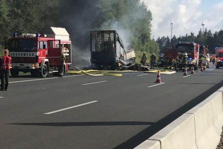 ΓΕΡΜΑΝΙΑ: Σοβαρό τροχαίο λεωφορείου με φορτηγό στη Βαυαρία