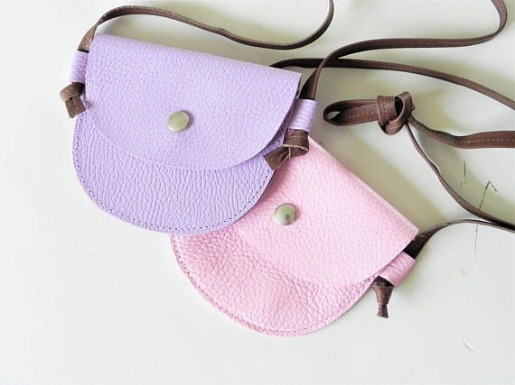 Kids purse Little girl purse Pink leather bag Toddler purse
