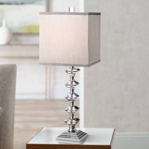 Deco collection colonnade crystal table lamp y4757 lamps plus