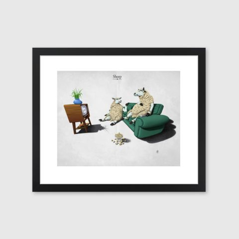 Sheep | Monde Mosaic art | decor | wall art | inspiration | caricatures | home decor | idea | humor | gifts