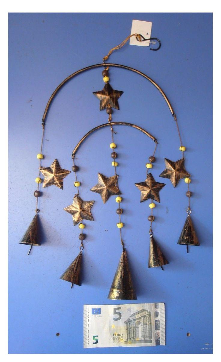 Pendente in metallo scacciaspiriti 6 stelle 5 campanelle, artigianato cinese | eBay