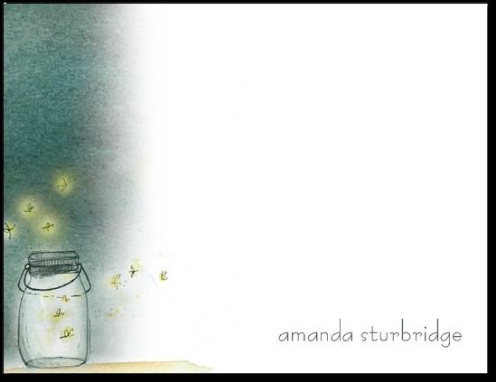 tinyprints | Enchanted Fireflies personalized stationary